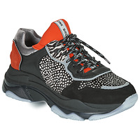 Sapatos Mulher Sapatilhas Bronx BAISLEY Preto / Laranja