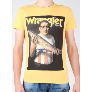 Textil Homem T-Shirt mangas curtas Wrangler T-shirt  S/S Graphic T W7931EFNG yellow