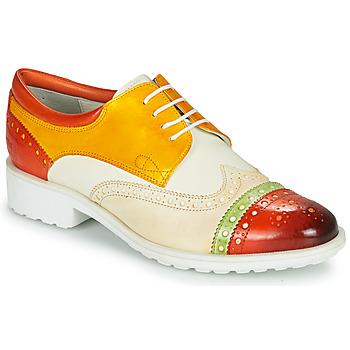 Sapatos Mulher Sapatos Melvin & Hamilton AMELIE 85 Branco / Amarelo / Castanho