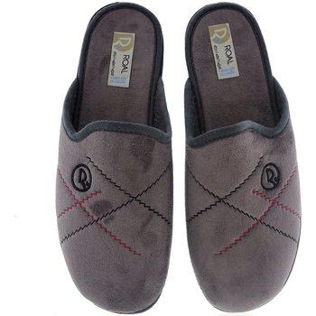 Sapatos Homem Chinelos Roal Zapatillas De Casa  859 Gris Cinza