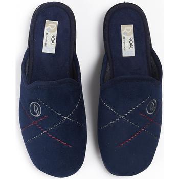 Sapatos Homem Chinelos Roal Zapatillas De Casa  859 Azul Azul