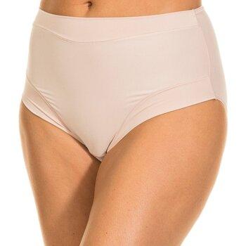 Roupa de interior Mulher Cuecas de cintura subida Janira Braguita Micro Fibra Bege