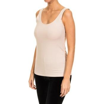 Roupa de interior Mulher Camisolas de interior Janira Camiseta Tirante Ancho Bege