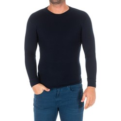 Textil Homem T-shirt mangas compridas Kisses And Love Camiseta m/larga Kisses&Love Azul
