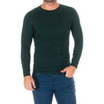 Textil Homem T-shirt mangas compridas Kisses And Love Camiseta m/larga Kisses&Love Verde