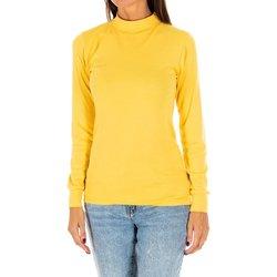 Textil Mulher T-shirt mangas compridas Kisses And Love Camiseta m/larga Kisses&Love Amarelo