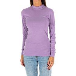 Textil Mulher T-shirt mangas compridas Kisses And Love Camiseta m/larga Kisses&Love Violeta