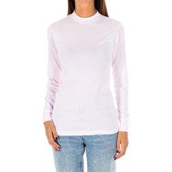 Textil Mulher T-shirt mangas compridas Kisses And Love Camiseta m/larga Kisses&Love Rosa