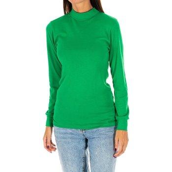 Textil Mulher T-shirt mangas compridas Kisses And Love Camiseta m/larga Kisses&Love Verde