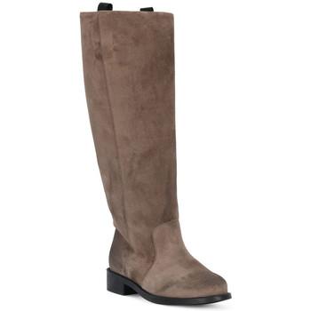 Sapatos Mulher Botas Frau WAXY VISONE Marrone