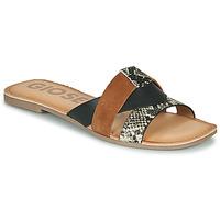 Sapatos Mulher Chinelos Gioseppo LANTANA Preto / Conhaque