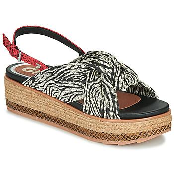 Sapatos Mulher Sandálias Gioseppo NEVELE Preto / Vermelho