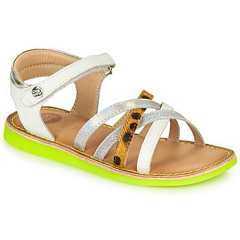 Sapatos Rapariga Sandálias Gioseppo STAGGIA Branco / Amarelo
