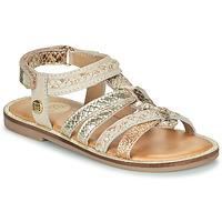 Sapatos Rapariga Sandálias Gioseppo PIGNOLA Bege / Ouro