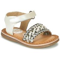 Sapatos Rapariga Sandálias Gioseppo VARESE Branco / Prata