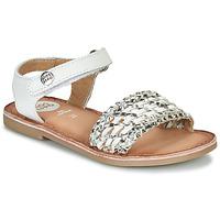 Sapatos Rapariga Sandálias Gioseppo VIETRI Branco / Prata