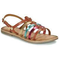 Sapatos Rapariga Sandálias Gioseppo ETALLE Conhaque / Multicolor