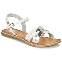 Sapatos Rapariga Sandálias Gioseppo GISTEL Branco / Prata