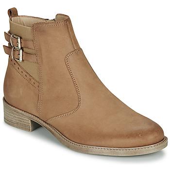 Sapatos Mulher Botas baixas André CARLIN Camel