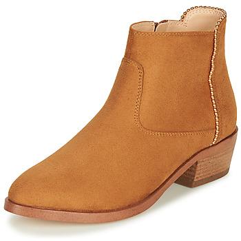 Sapatos Mulher Botas baixas André BELEN Camel