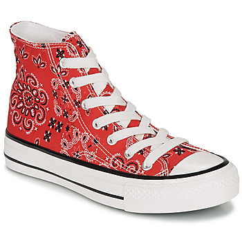 Sapatos Mulher Sapatilhas de cano-alto André HEAVEN Vermelho