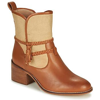 Sapatos Mulher Botins André BROOK Camel