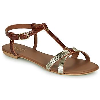 Sapatos Mulher Sandálias André RODHIE Camel