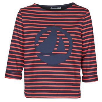 Textil Mulher Tops / Blusas Petit Bateau  Vermelho / Marinho