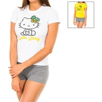 Roupa de interior Mulher Meia calça / Meias de liga Disney Pack de dos camisetas Hello Kitty Multicolor