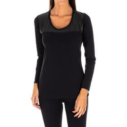 Textil Mulher Tops / Blusas Rossoporpora Camiseta exterior m/larga Preto