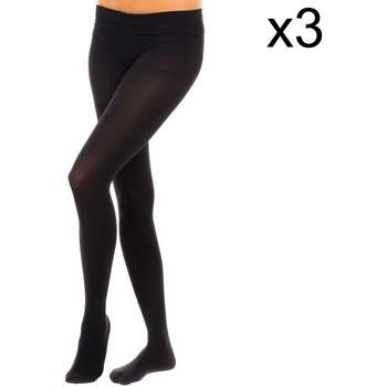 Roupa de interior Mulher Meia calça / Meias de liga Vignoni Pack-3 Panty Tupido M.Fibra 200D Preto