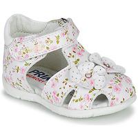 Sapatos Rapariga Sandálias Primigi 5401300 Branco / Rosa