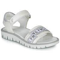 Sapatos Rapariga Sandálias Primigi 5386700 Branco / Prata
