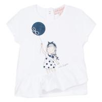 Textil Rapariga T-Shirt mangas curtas Lili Gaufrette NALIOS Branco