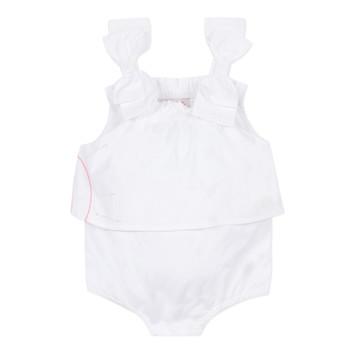 Textil Rapariga Macacões/ Jardineiras Lili Gaufrette NOLENI Branco