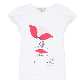 Textil Rapariga T-Shirt mangas curtas Lili Gaufrette KATINE Branco