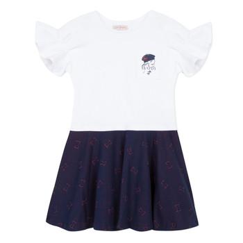 Textil Rapariga Vestidos curtos Lili Gaufrette PERRINE Branco