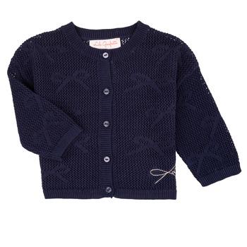 Textil Rapariga Casacos de malha Lili Gaufrette CETELIA Marinho