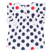 Textil Rapariga Tops / Blusas Lili Gaufrette POUSSI Branco