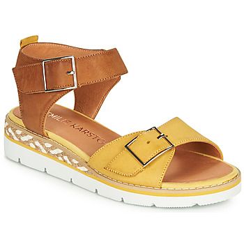 Sapatos Mulher Sandálias Karston KICHOU Amarelo / Castanho