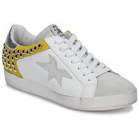 Sapatos Mulher Sapatilhas Meline GELLABELLE Branco / Mostarda