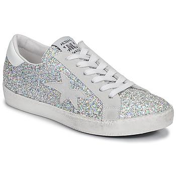 Sapatos Mulher Sapatilhas Meline GARAMINE Branco / Prateado