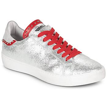 Sapatos Mulher Sapatilhas Meline GARILOU Prata / Vermelho