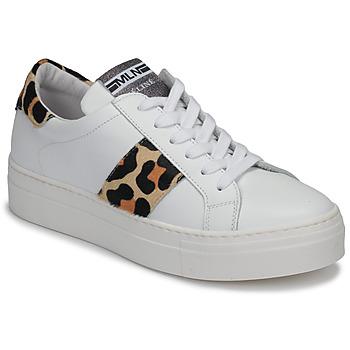 Sapatos Mulher Sapatilhas Meline GETSET Branco / Leopardo