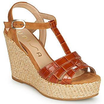 Sapatos Mulher Sandálias Unisa MACA Camel