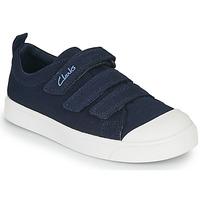 Sapatos Criança Sapatilhas Clarks CITY VIBE K Marinho