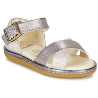 Sapatos Rapariga Sandálias Clarks SKYLARK PURE T Prata / Rosa