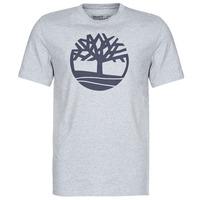 Textil Homem T-Shirt mangas curtas Timberland SS KENNEBEC RIVER BRAND TREE TEE Cinza