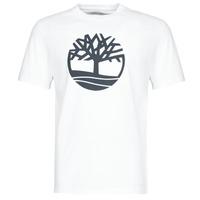 Textil Homem T-Shirt mangas curtas Timberland SS KENNEBEC RIVER BRAND TREE TEE Branco