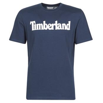 Textil Homem T-Shirt mangas curtas Timberland SS KENNEBEC RIVER BRAND LINEAR TEE Marinho